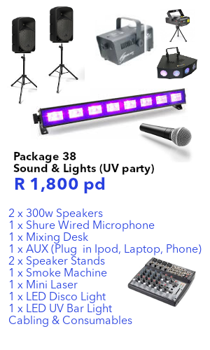 sound & lighting for uv party