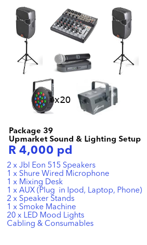 high end sound & lighting hire