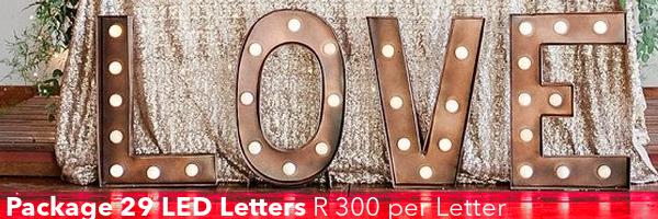 led letter hire