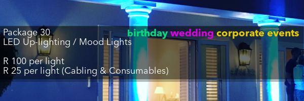 uplighting hire mood lights rental